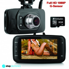 Camera Video DVR Auto, Full HD 1080P + Card 16GB, Night Vision, Senzor Miscare - Camera video auto