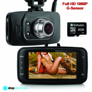 Camera Video DVR Auto, Full HD 1080P + Card 16GB, Night Vision, Senzor Miscare!