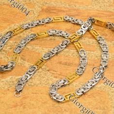 Set Lant+Bratara INOX model Versace COD 1033A - Set bijuterii inox