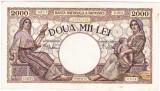 Bancnota 2000 lei 18 noiembrie 1941,filigran Traian,VF+