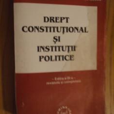 DREPT CONSTITUTIONAL SI INSTITUTII POLITICE -- Ioan Muraru, Simina Tanasescu -- Editia a XI-a, 2001, 703 p. - Carte Drept constitutional