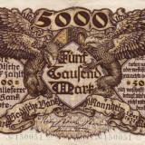 Germania Mannheim 5000 marci 1922 Rara