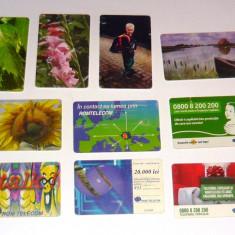 MOKAZIE! Lot / Set 10 cartele telefonice - 2+1 gratis pt produse la pret fix - MOK219 - lot colectie