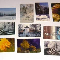 MOKAZIE! Lot / Set 10 cartele telefonice - 2+1 gratis pt produse la pret fix - MOK223 - lot colectie