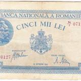 Bancnota 5000 lei - 28 septembrie 1943 - Bancnota romaneasca