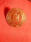 Insigna Militara 150 Ani Directia Topografica Militara , bronz , d= 2,5 cm