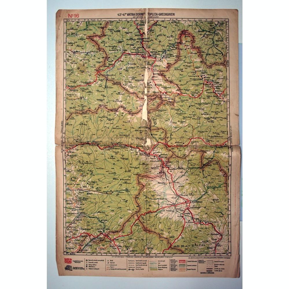 Harta Veche Anii 20 Vatra Dornei Toplita Ghiorghieni