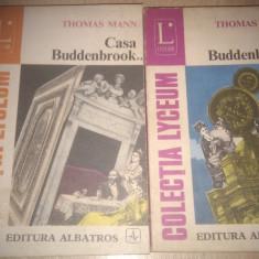 CASA BUDDENBROOK DE THOMAS MANN,VOL 1+2,EDITURA ALBATROS 1975,COLECTIA LYCEUM