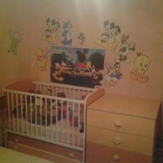 Patut copil, inclusiv comoda cu sertare - Set mobila copii