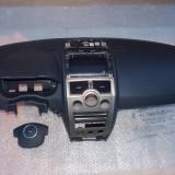 Kit Airbag Renault Megane 2 (02-'09) plansa bord cu airbag, airbag volan negru pilot ornament cerc - Airbag auto, MEGANE II limuzina (LM0/1_) - [2003 - 2009]