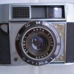 Aparat foto de colectie Agfa Optima 1+toc piele - Aparat Foto cu Film Agfa, RF (Rangefinder), Mic