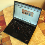 Lenovo ThinkPad T500, Intel Core 2 Duo P8700 2.53 GHz, 8 GB DDR3 - Laptop Lenovo, Diagonala ecran: 15, 1 TB, Windows 7