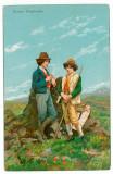 2039 - SHEPHERDS, CIOBANI, Romania - old postcard - unused