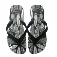 Papuci Flip Flop Surf Black (Hav-1231860408) - Slapi barbati Havaianas, Marime: 45, 46, Culoare: Negru