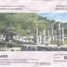 Pentru colectionari: bilet intrare Ancient Olympia Palaestra, Grecia
