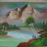 Pictura ulei pe panza - Pictor roman, Peisaje