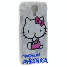 Husa plastic Hello Kitty Samsung Galaxy S4 i9500/i9505 + folie