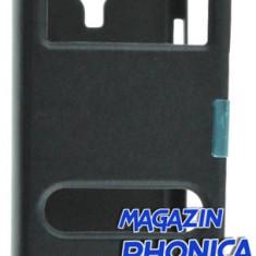 Husa toc Samsung Galaxy s4 i9500 i9505 + folie ecran, Piele Ecologica
