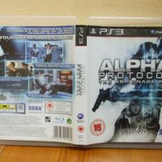 Alpha Protocol (PS3) (ALVio) + sute de alte Jocuri PS3 Sega ( VAND / SCHIMB ), Actiune, 12+