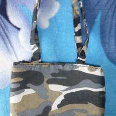 Geanta camuflaj; 25 x 19 cm; stare excelenta - Geanta Barbati, Geanta tip postas
