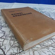 AUTOMOBIL-CLUB-REGAL ROMAN ~ GHIDUL DRUMURILOR DIN ROMANIA - ION CAMARASESCU - 1928 + HARTA ROMANIA MARE DE C.DEM POPESCU - ANII 1930-1940 - Carte veche