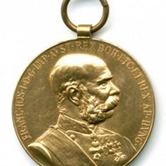 AUSTRIA  MEDALIE MILITARA PRIMUL RAZBOI MONDIAL WW I JUBILEU 50 ANI 1848-1898