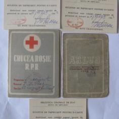 CARNETE MEMBRU ARLUS SI CRUCEA ROSIE R.P.R. DIN ANII 49/52 - Diploma/Certificat