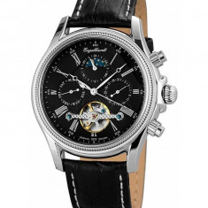 Ceas de lux Engelhardt Cederic Steel Black, original, nou, cu factura si garantie! - Ceas barbatesc Engelhardt, Lux - elegant, Mecanic-Automatic, Otel