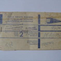 BILET INTERNATIONAL C.F.R. DIN ANII 70, Documente