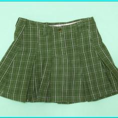 Fusta de primavara—toamna, plisata, de calitate, H&M → fete | 9—10 ani | 140 cm, Marime: Alta, Culoare: Olive