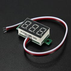 Voltmetru digital cu leduri verzi, 2.5 - 32 V, foarte precis, 3 digit si 3 fire