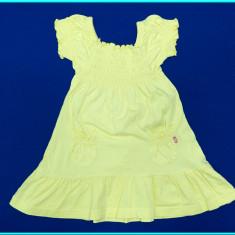 IMPECABILA _ Rochie / rochita bumbac, FRUMOASA _ fetite | 12 - 18 luni | 86 cm, Marime: Alta, Culoare: Galben