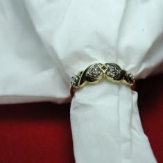 INEL AUR CU DIAMANTE - Inel diamant, 46 - 56