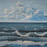 """Peisaj marin""-pictura, Peisaje, Realism"