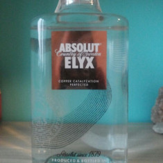 NOU ! ABSOLUT ELYX VODKA 0.7 L, 700 ML, IMPECABILA ! poze reale !