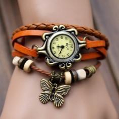 Ceas dama bratara vintage + ambalaj cadou, Fashion, Quartz, Analog