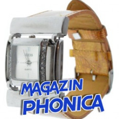 Ceas dama Guess + cutie cadou + expediere gratuita Posta - Sell by PHONICA, Quartz, Analog