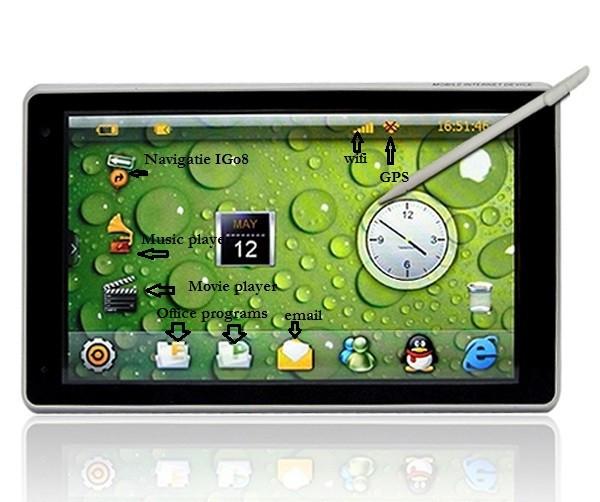 "Navigatie GPS 7"" iGo8 si TabletPC foto mare"