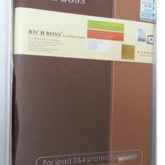 Husa mapa coperta APPLE IPAD 3 SI IPAD 4 Rich Boss - Husa Tableta