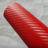 Rola folie carbon 3D rosie latime 1.27mx30m