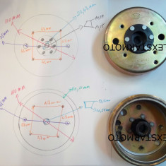 Volanta magnetou scuter GY6-50 (139QMB) 4T 50cc