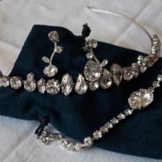 Set tiara, cercei si bratara Carla Brillanti cu cristale Swarovski - Tiare mireasa