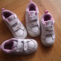 Adidasi marca Nike nr 23, 5 - Adidasi copii Nike, Fete, Piele naturala, Alb
