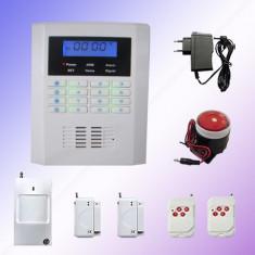Noul sistem de alarma GSM+PSTN-19 cu 101 Zone Wireless Full compatibila cu Sistemele Dispecerat Interventie Rapida Antiefractie