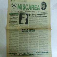 Miscarea Publicatie a Noii Generatii An I Nr. 4 Noiembrie 1992 Mircea Vulcanescu Generatie - Ziar