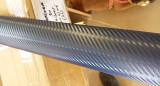 Rola folie carbon 3D albastra cu tehnologie de eliminare a bulelor de aer 10m x 1.5m