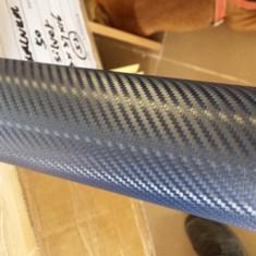 Rola folie carbon 3D albastra cu tehnologie de eliminare a bulelor de aer 10m x 1.5m - Folii Auto tuning