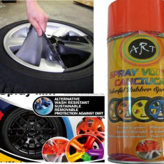 Spray vopsea cauciucata detasabila 1004 portocaliu fluorescent - Cosmetice Auto