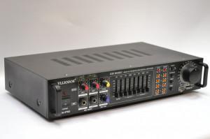 AMPLIFICATOR / STATIE PROFESIONALA PENTRU KARAOKE CU MIXER SI MP3 PLAYER INCLUS,EFECTE VOCE,STICK USB, INTRARI MIC.+2 MICROFOANE BONUS!