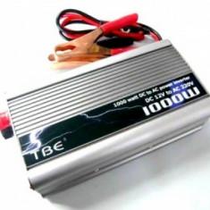 INVERTOR ( convertor ) 12v la 220V 1000W, CURENT 220V LA MASINA, PESCUIT, CAMPING.. - Invertor curent
